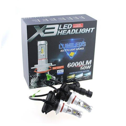 Набір світлодіодного головного світла UP-X3HL-9004W(HB1) (6000 лм) Прев'ю 1