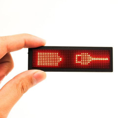 LED Name Tag (92 x 27 x 7 mm, Red) Preview 1